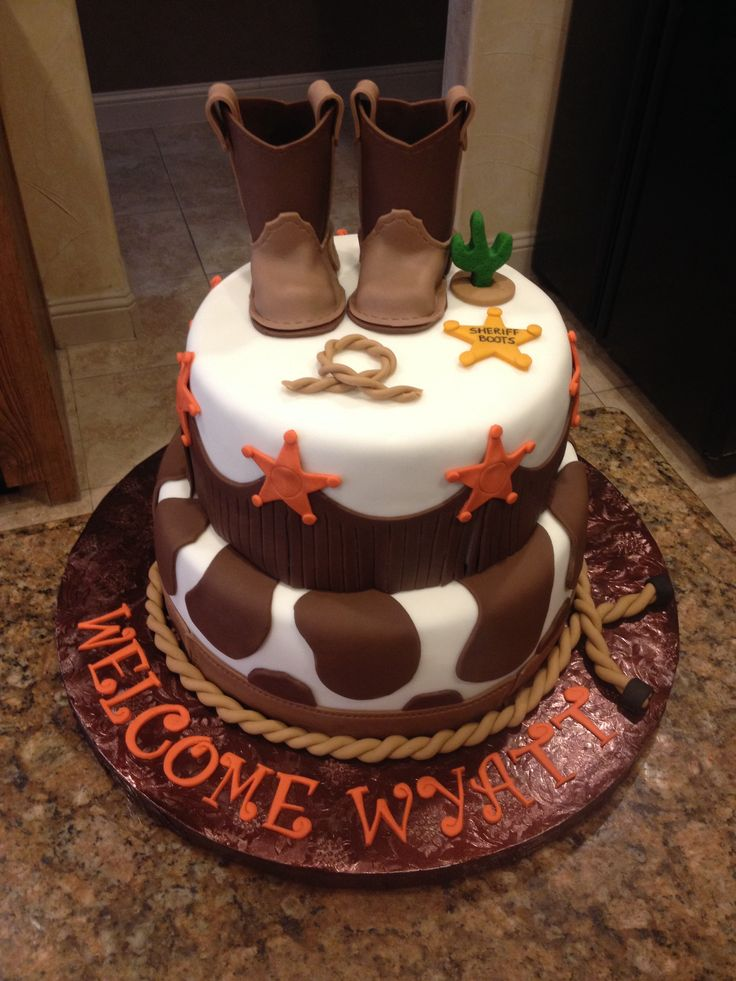 10 Western Theme Baby Shower Cakes Photo Western Baby Shower Cake