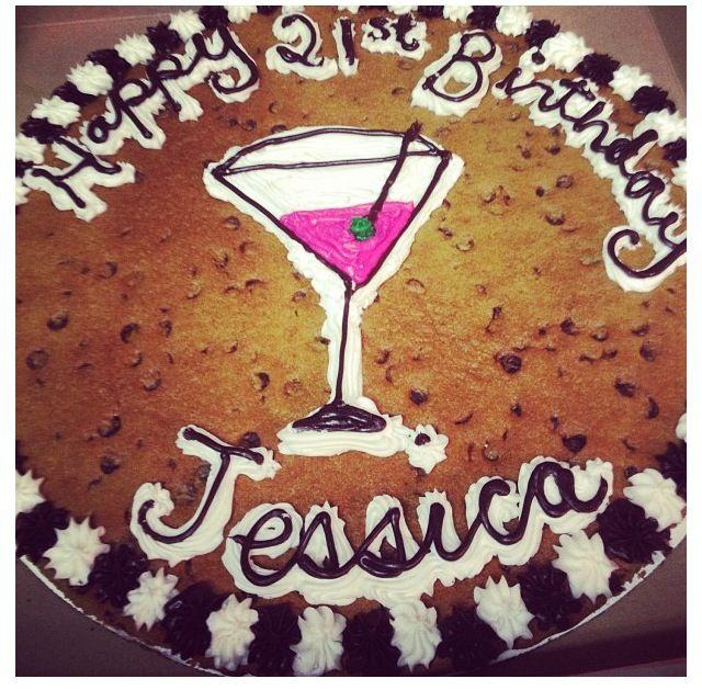 21st Birthday Cookie Cake Designs