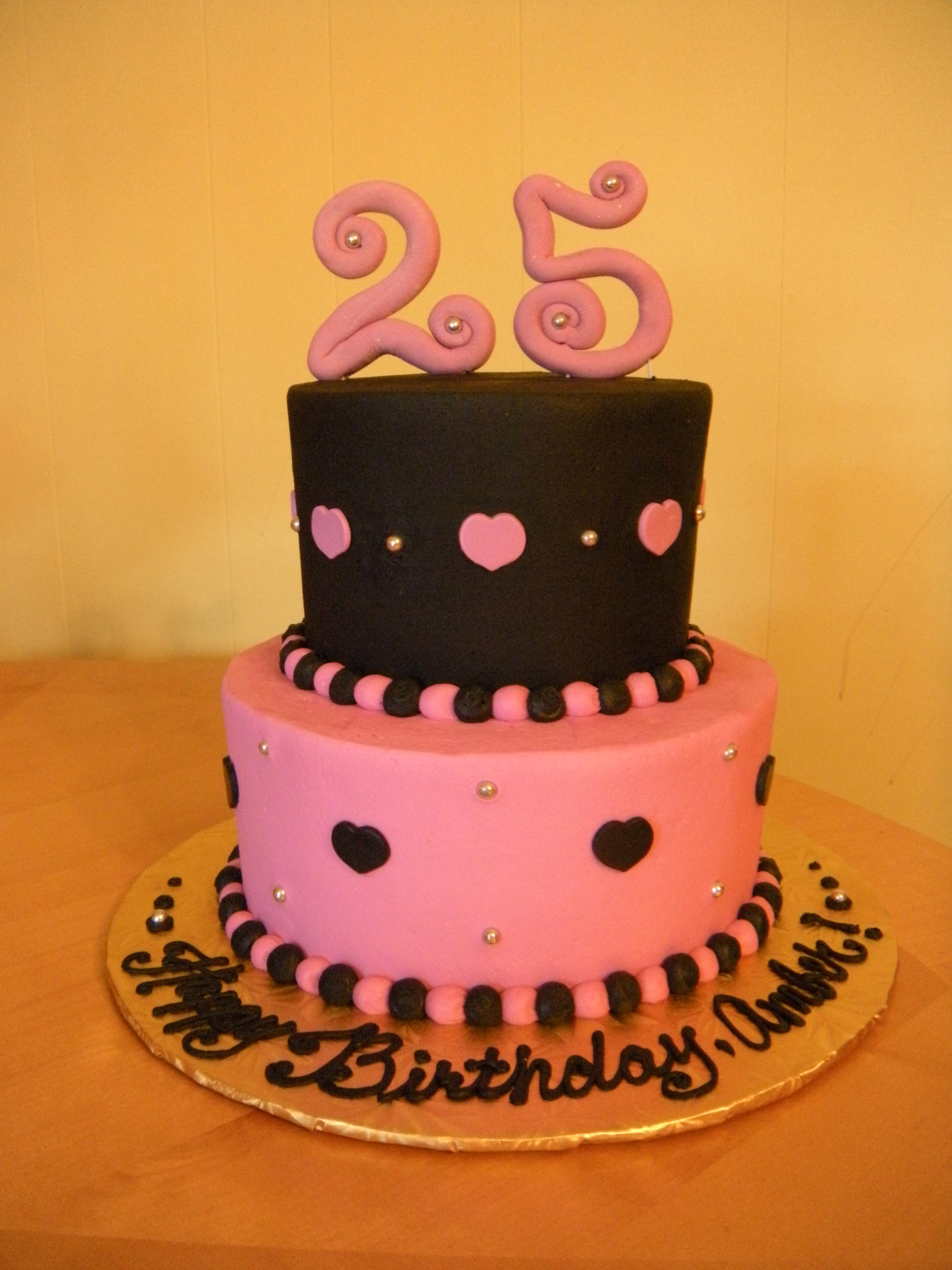 13 25th Birthday Cakes For Women Photo 25th Birthday Cake Ideas