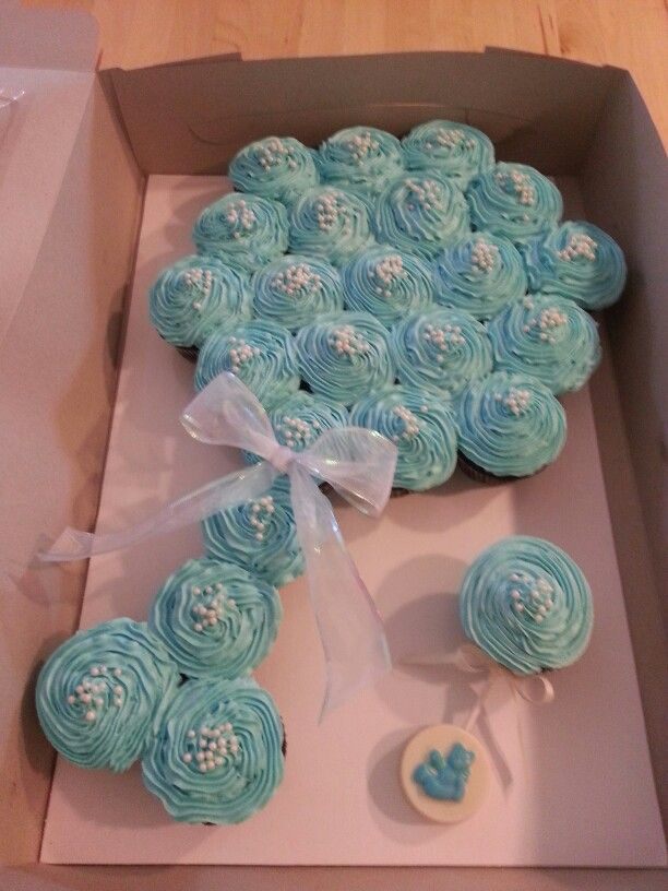 12 Cupcake Cakes For Baby Shower Photo Baby Carriage Cupcake Cake