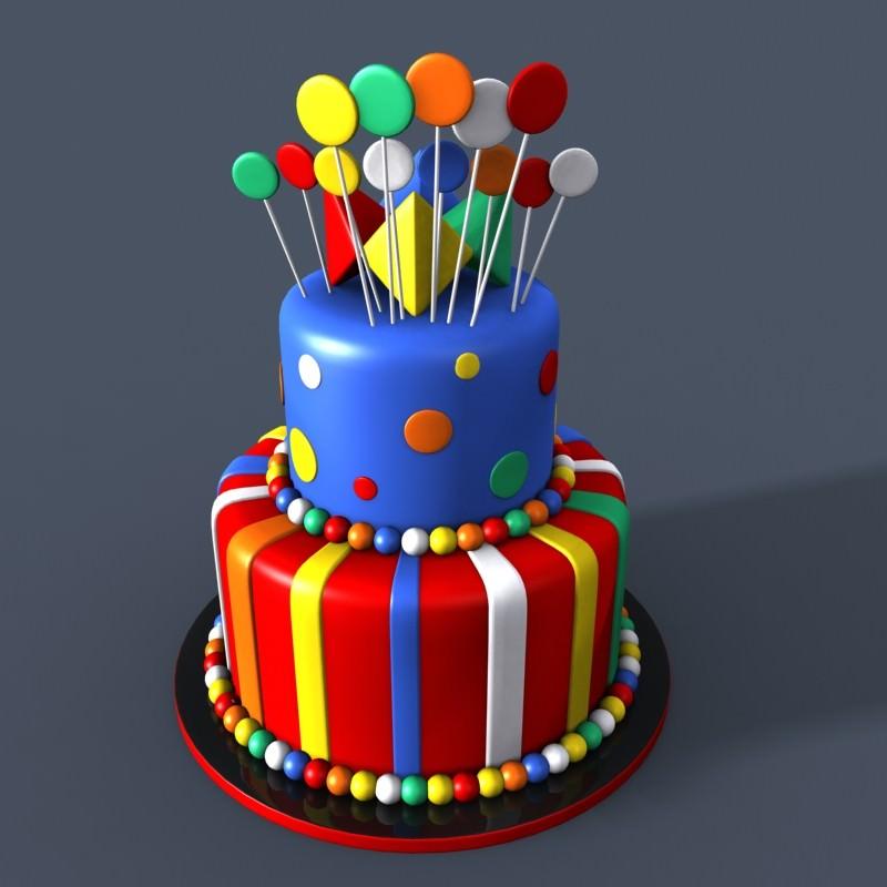 Superb 6 3D Birthday Cakes Photo Birthday Cake 3D Model Birthday Cake Personalised Birthday Cards Paralily Jamesorg