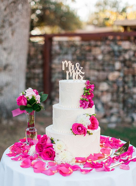 13 Royal Blue And Fuschia Wedding Cakes Photo - Royal Blue Wedding ...
