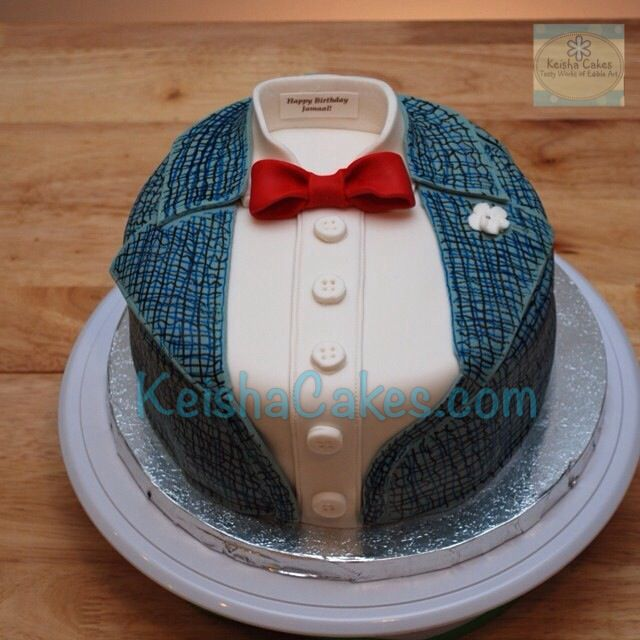 12 Shirt And Bow Tie Cakes Photo Bow Tie Birthday Cake Bow Tie