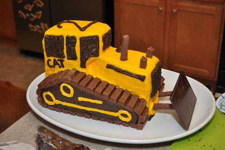 11 Dozer Birthday Cakes Photo Bulldozer Cake Instructions