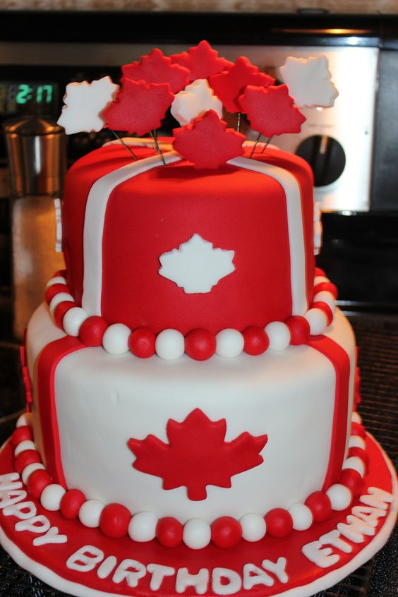Amazing 10 Cupcakes In The Shape Of Canada Photo Canada Day Cupcakes Funny Birthday Cards Online Chimdamsfinfo