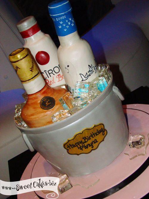 Sensational 13 Liquor Cakes For Men Photo Liquor Themed Birthday Cakes Funny Birthday Cards Online Alyptdamsfinfo