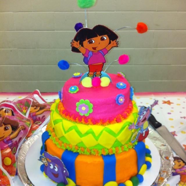 Astounding 8 Dora The Explorer Happy Birthday Cakes Photo Dora The Explorer Birthday Cards Printable Benkemecafe Filternl