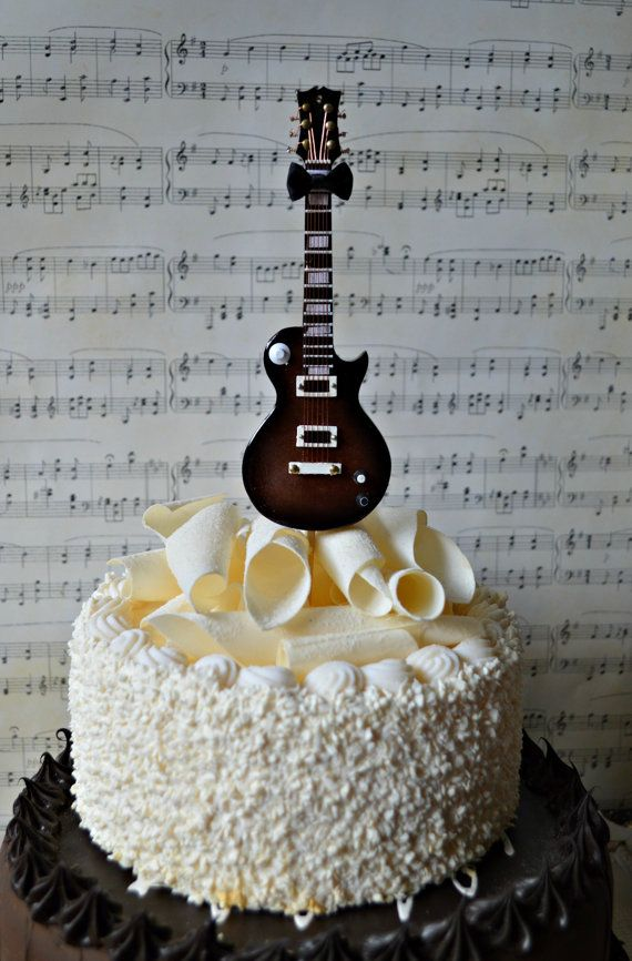 12 Rock And Roll Guitar Birthday Cakes Photo Rockn Roll Birthday