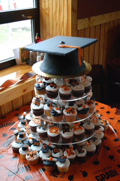 10 High School Graduation Cupcakes Towers Photo High School