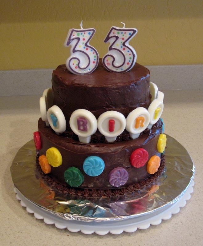 Happy 33 Birthday Cake