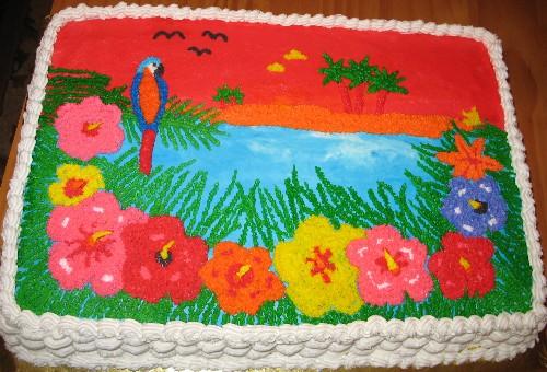 Hawaiian Themed Sheet Cakes: Hawaiian Birthday Sheet Cakes At Alzheimers-prions.com