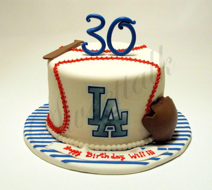 Los Angeles Dodgers Baseball Cake