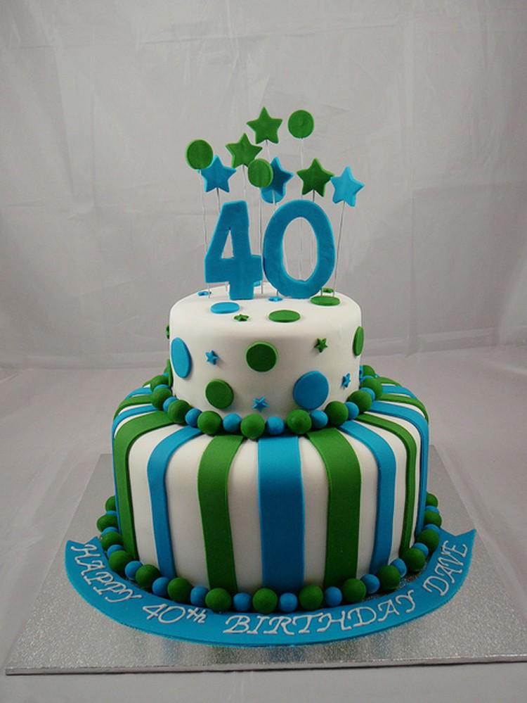 Marvelous 12 Guy S 40Th Birthday Cakes Photo Men 40Th Birthday Cake Ideas Funny Birthday Cards Online Eattedamsfinfo