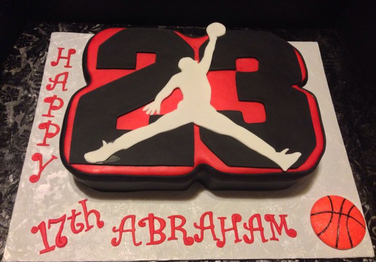 Astonishing 10 Michael Jordan Cakes And Cupcakes Photo Michael Jordan Edible Funny Birthday Cards Online Elaedamsfinfo