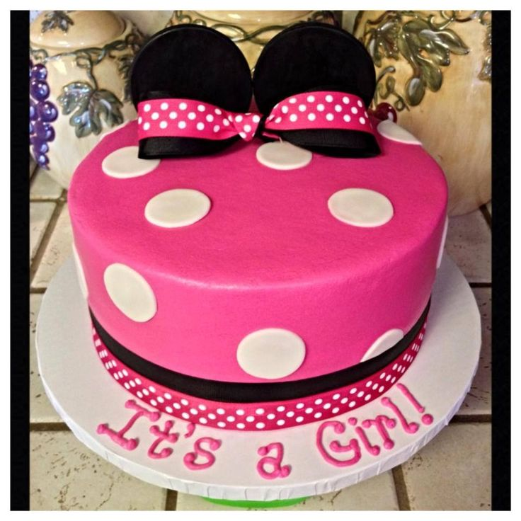 8 Minnie Mouse Baby Shower Cakes For Girls Photo Minnie Mouse Baby