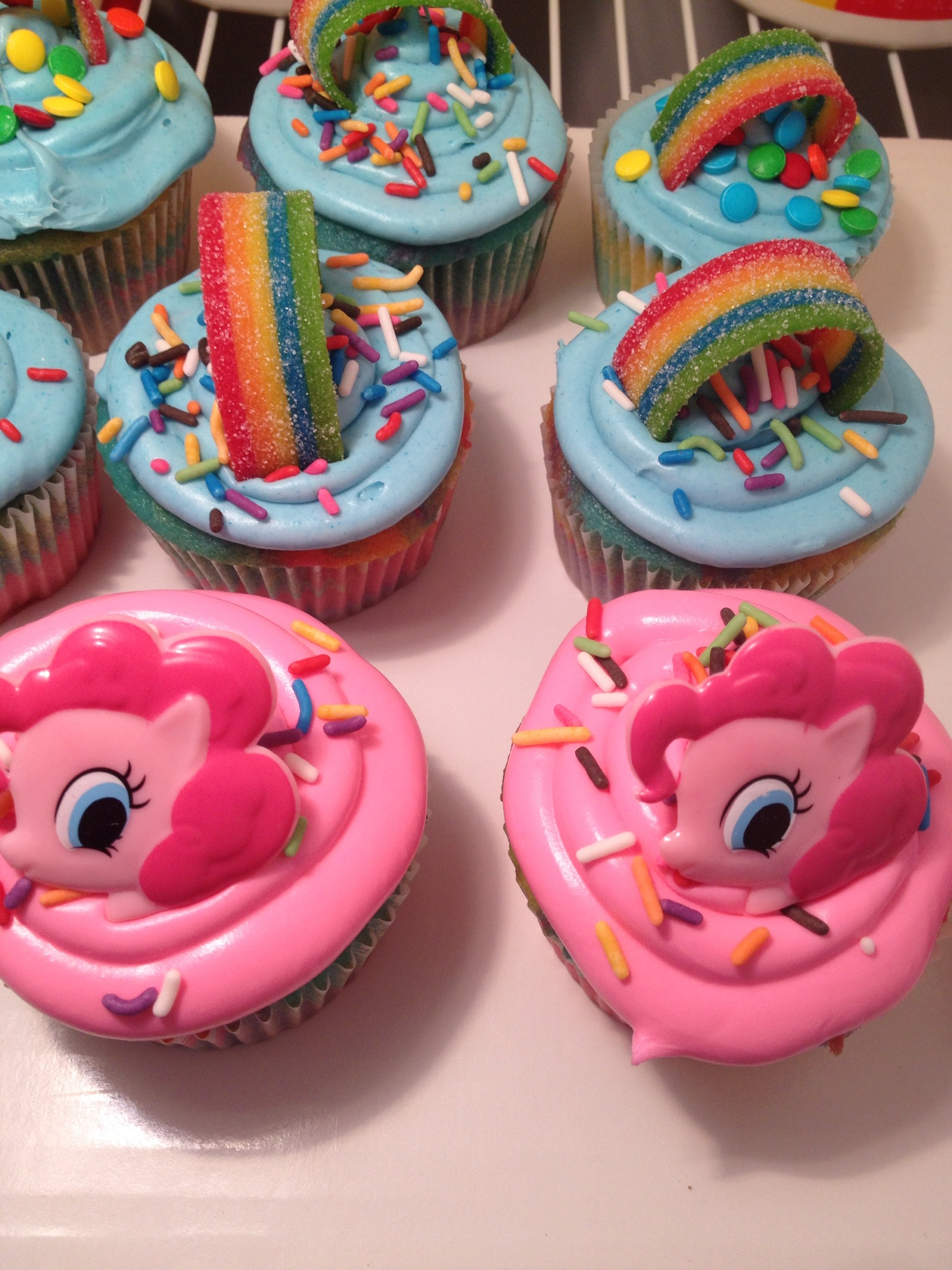 My Little Pony Birthday Cupcakes