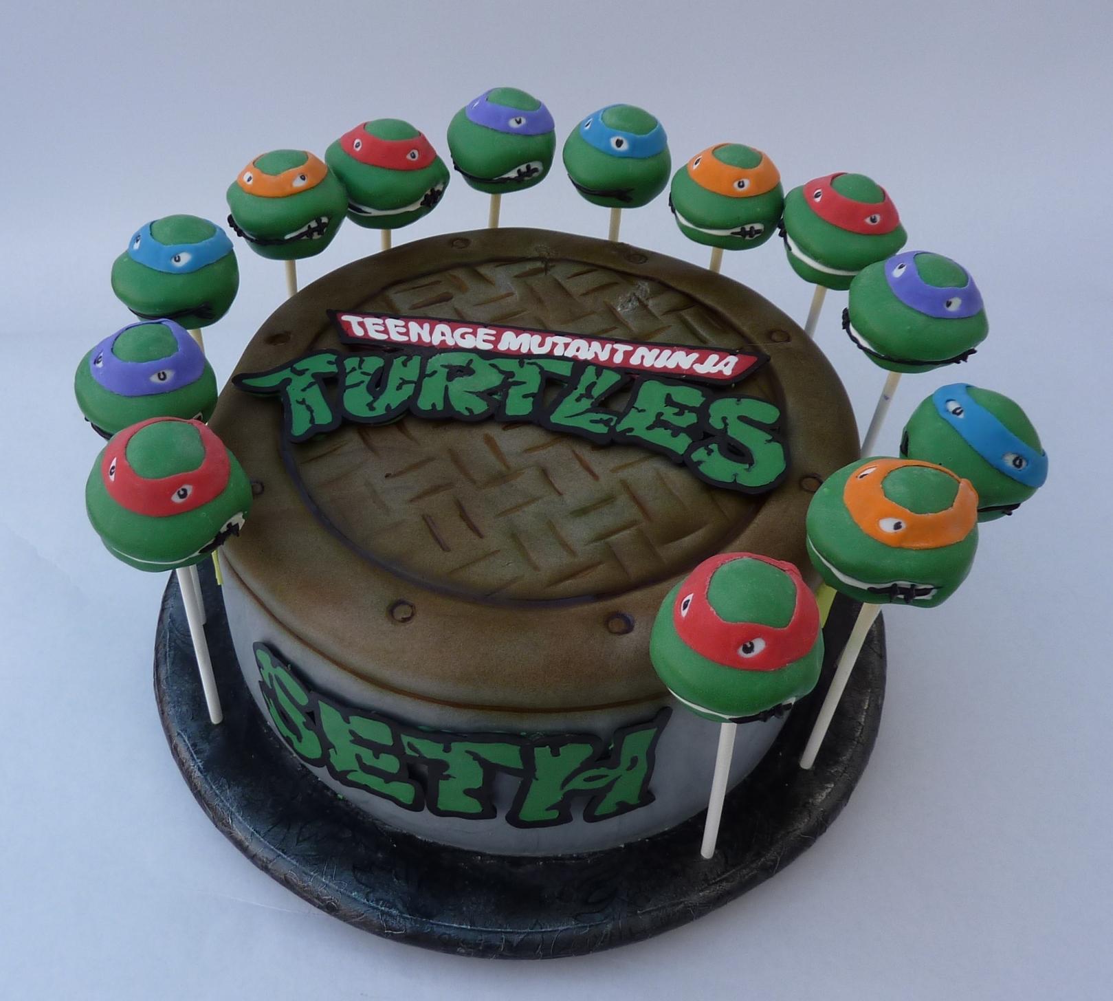 Tremendous 8 Tmnt Birthday Cupcakes Photo Ninja Turtle Shell Teenage Personalised Birthday Cards Paralily Jamesorg
