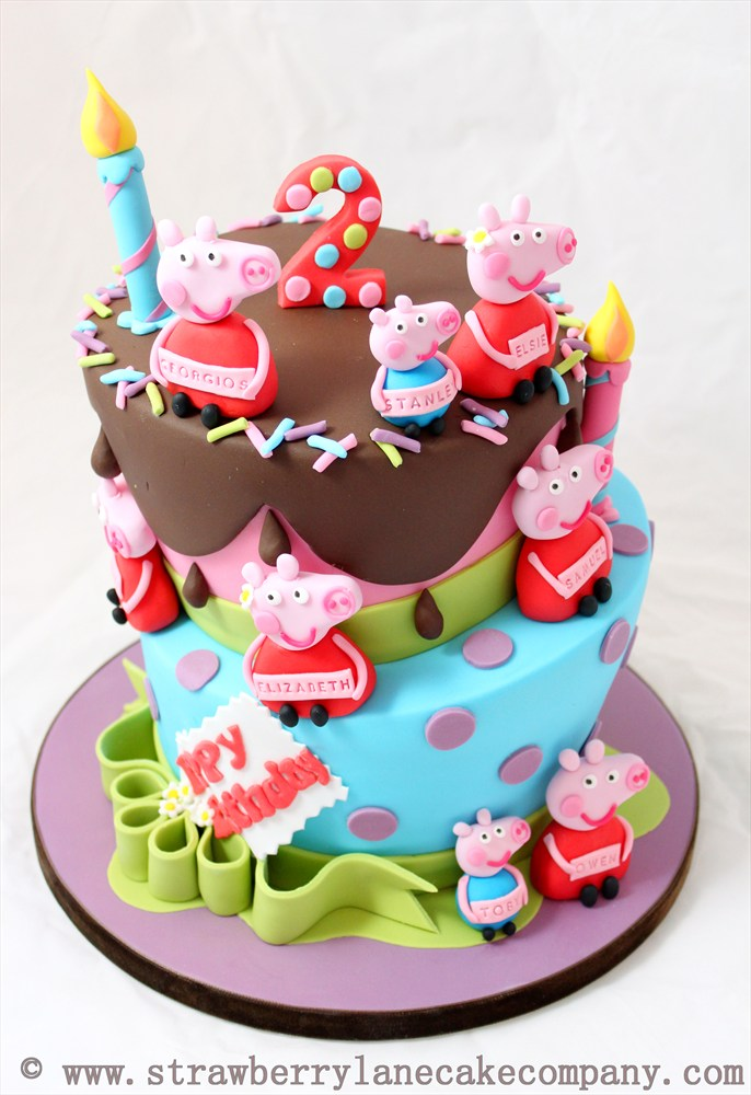 Excellent 10 Peppa Pig Birthday Cupcake Cakes Photo Peppa Pig Birthday Birthday Cards Printable Inklcafe Filternl