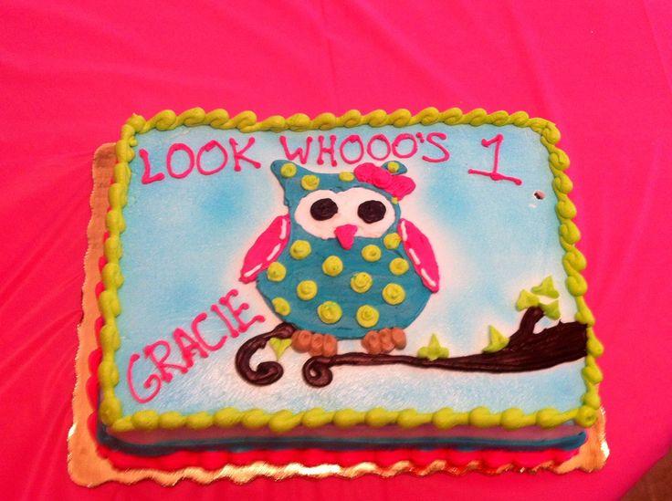 11 Owl Birthday Cakes Publix Photo Publix First Birthday Cake Owl