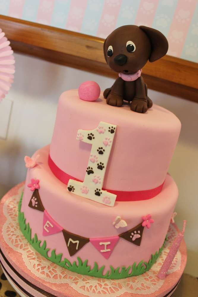 Admirable 10 Dog Birthday Cakes For Girls Photo Puppy Dog Birthday Cakes Funny Birthday Cards Online Necthendildamsfinfo