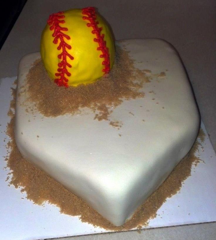 Outstanding 13 Baseball Softball Birthday Cakes Photo Softball Cake Personalised Birthday Cards Paralily Jamesorg