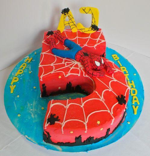 Spider Man Birthday Cake Number 5