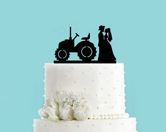 12 Tractor Cake Toppers Wedding Cakes Photo - Tractor Wedding Cake ...