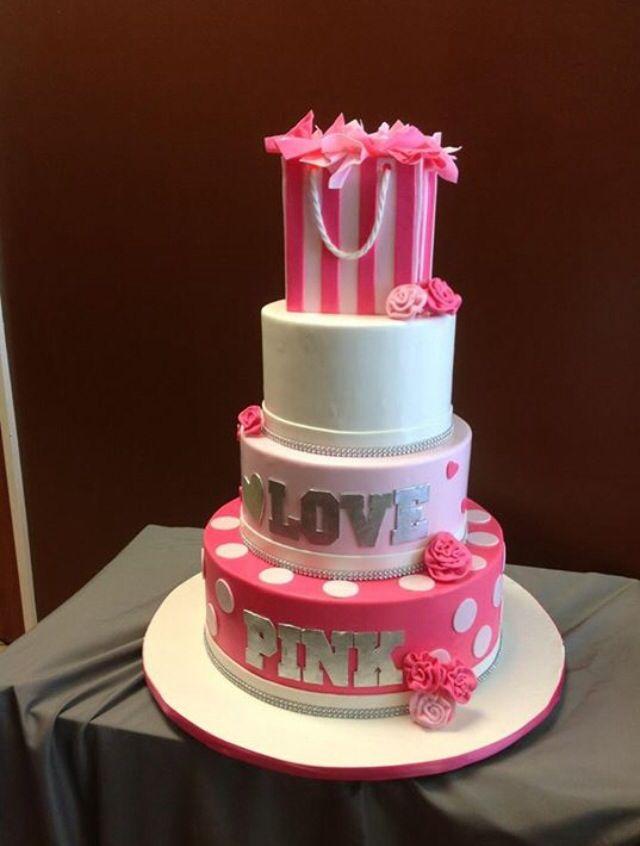 7b3c93ce2d 12 Victoria Secret Pink Themed Cakes Photo - Victoria Secret Pink ...