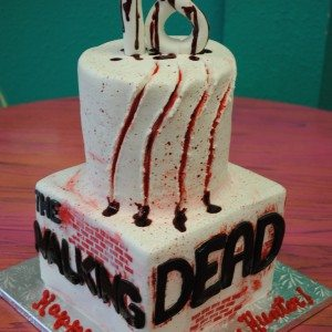 Walking Dead Zombie Birthday Cake