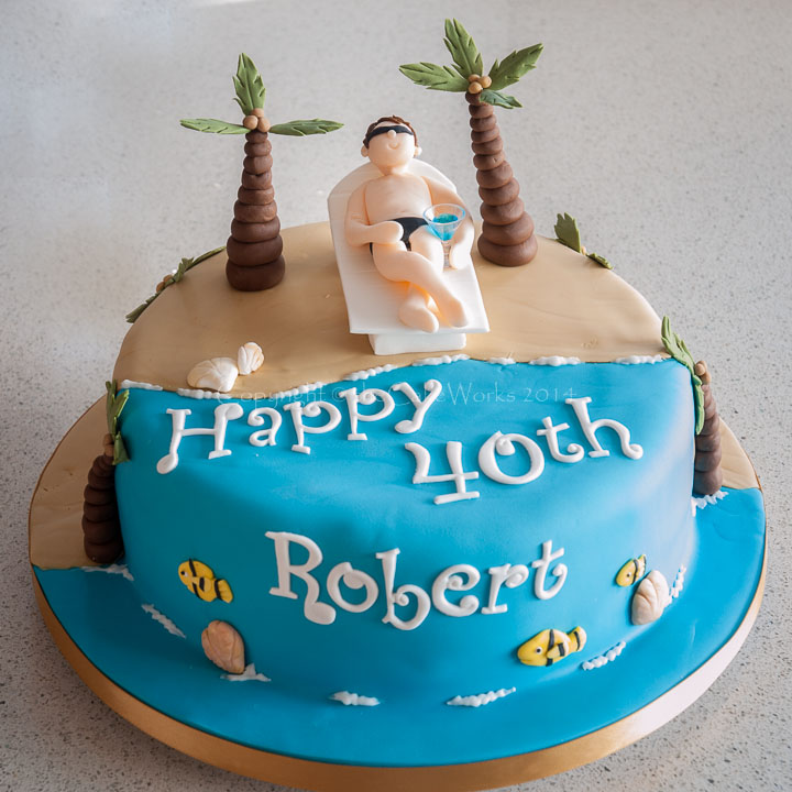 11 Beach Cakes For Men Photo 40th Birthday Cake Ideas For A Man
