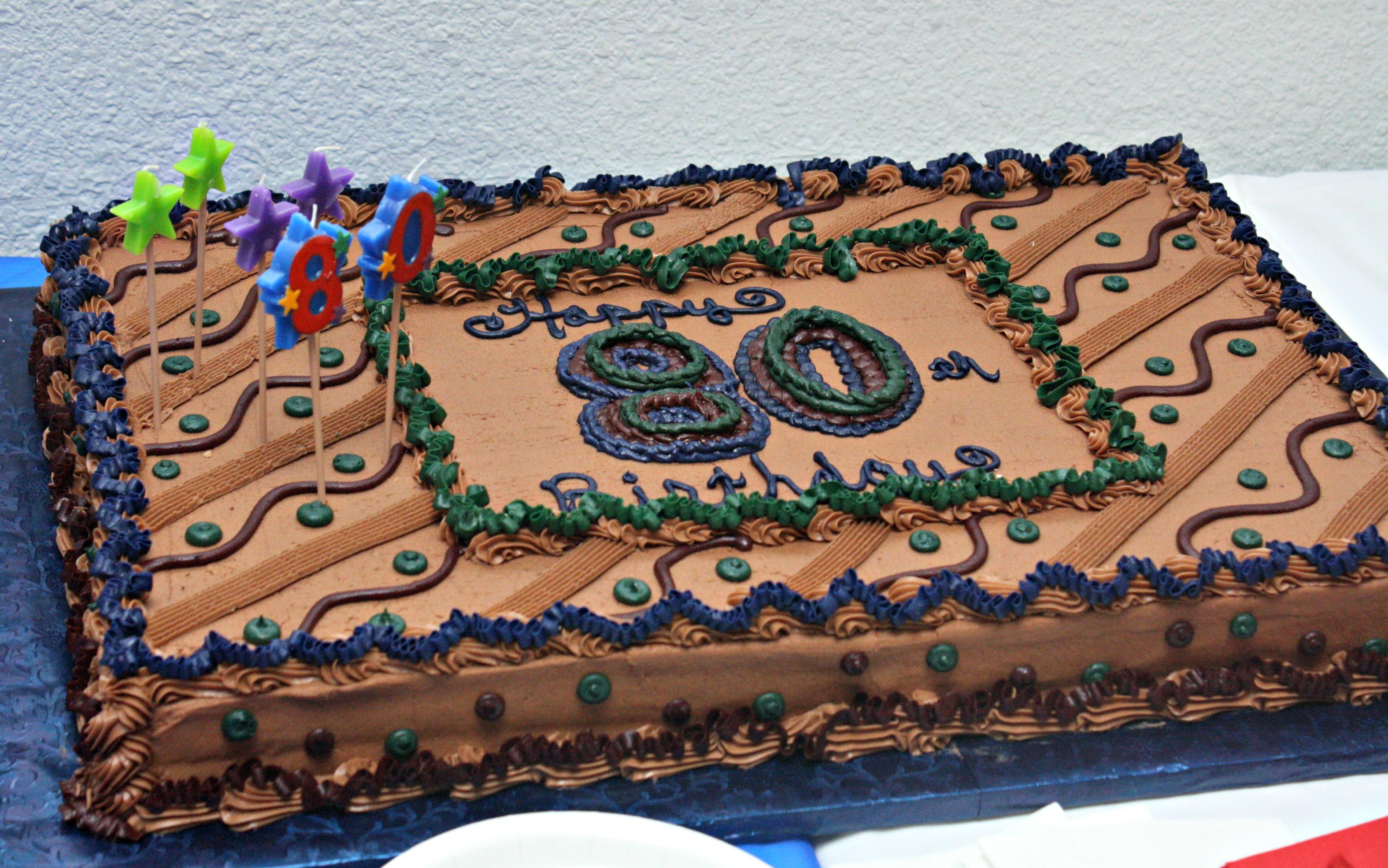 80th Birthday Sheet Cake Ideas Men