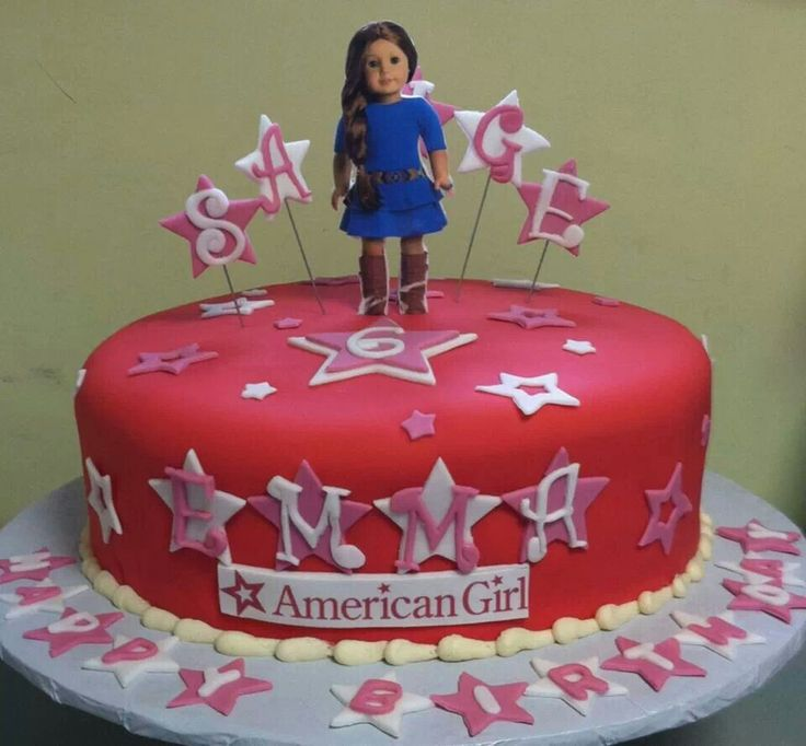 Fabulous 10 American Girl Cakes For Girls Photo American Girl Birthday Birthday Cards Printable Opercafe Filternl