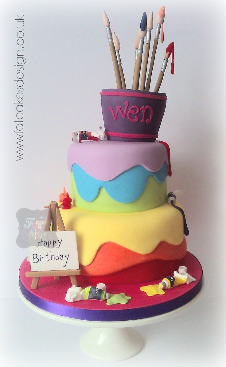 10 Profesional Artist Themed Cakes Photo Birthday