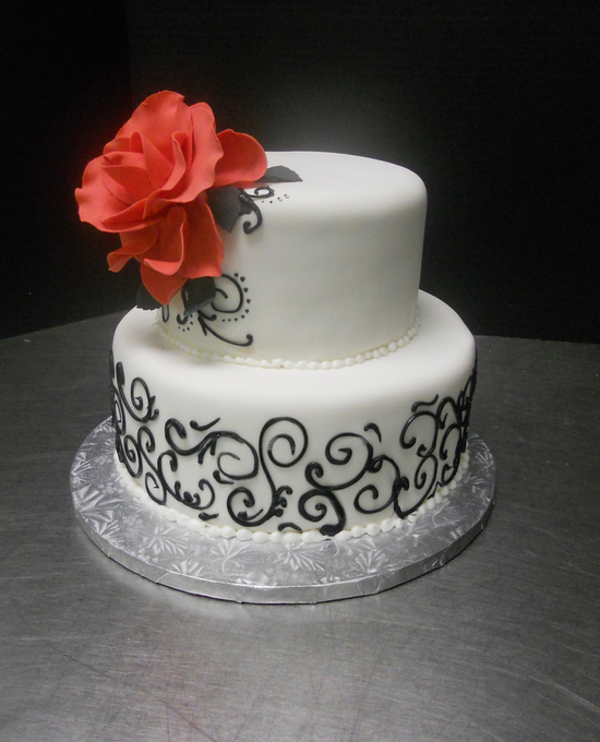 8 Red And White 2 Tier Wedding Cakes Photo Black And White 2 Tier