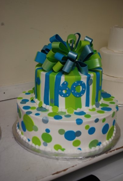 10 Green Orange And Blue 2nd Birthday Cakes Photo Blue Green And