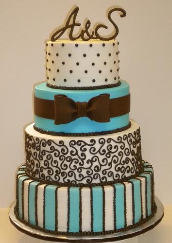 9 Sky Blue And Brown Wedding Cupcakes Photo - Sky Blue Wedding Cake ...