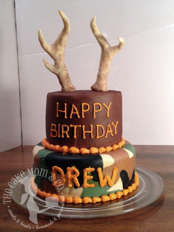 Incredible 9 Hunter Cakes Idea Photo Hunting Grooms Cake Ideas Deer Birthday Cards Printable Inklcafe Filternl