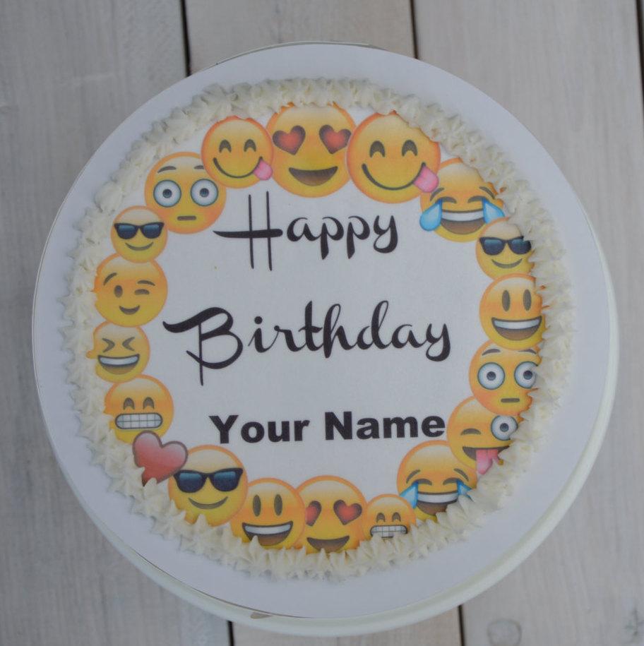 Emoji Birthday Cake Toppers