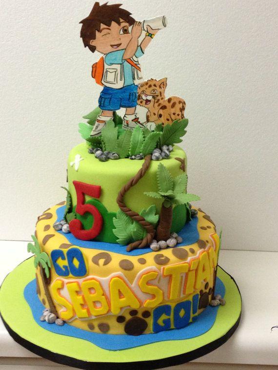 Awe Inspiring 13 De Diego Go Cakes Photo Go Diego Go Cake Go Diego Go Personalised Birthday Cards Epsylily Jamesorg