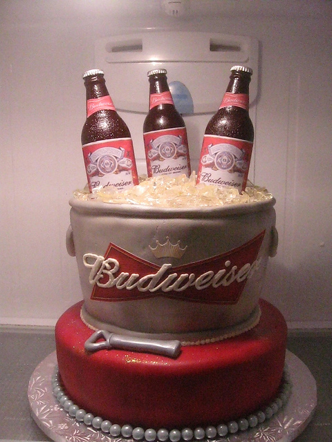 Excellent 12 Budweiser Theme Cakes Photo Budweiser Birthday Cake Happy Personalised Birthday Cards Cominlily Jamesorg