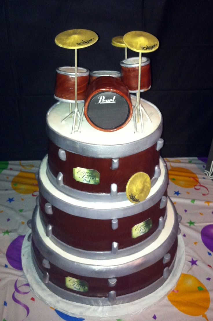 Happy Birthday Drum Cake