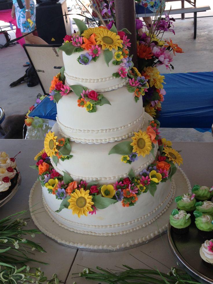 12 Hawaii Theme Wedding Cakes Photo Hawaiian Themed Wedding Cake
