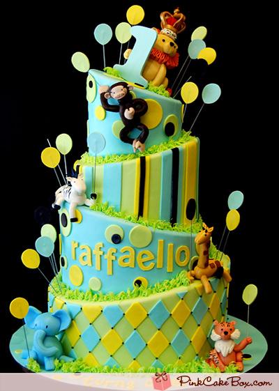Awesome 13 Birthday Cakes Jungle Safari Toddler Photo Jungle Safari Personalised Birthday Cards Bromeletsinfo