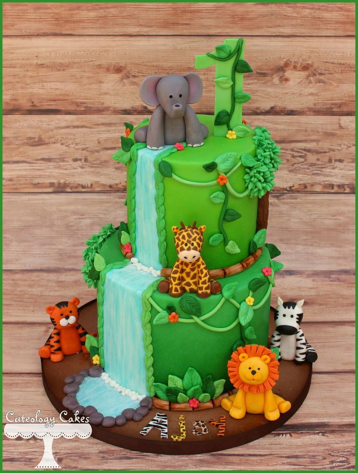13 Birthday Cakes Jungle Safari Toddler Photo Jungle Safari