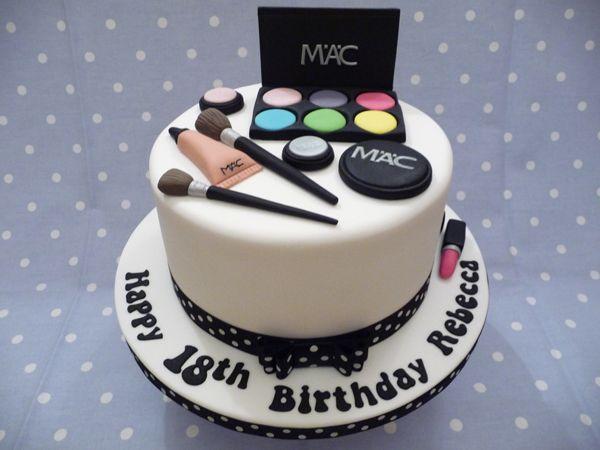11 Mac Makeup Theme Birthday Cakes Photo
