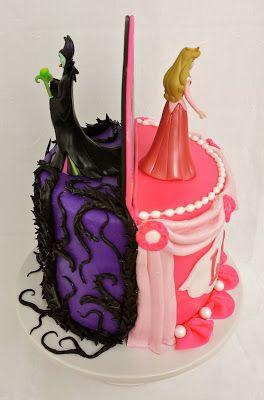 Maleficent and Sleeping Beauty Cake