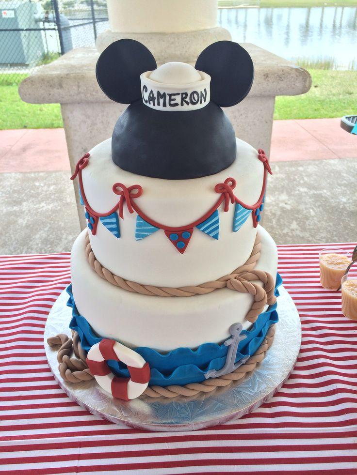 11 Sailor Mickey Cakes Photo Nautical Mickey Mouse Cake Sailor