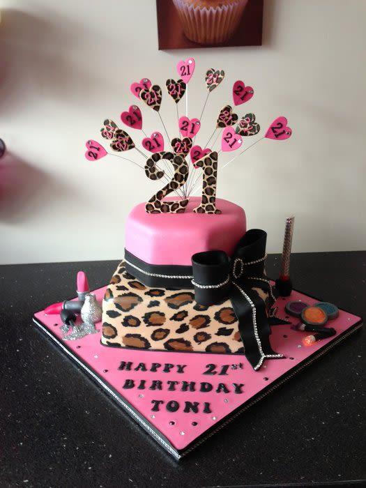 Enjoyable 5 Pink And Leopard Print Birthday Cakes Photo Pink Leopard Print Funny Birthday Cards Online Necthendildamsfinfo