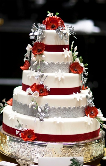 Red And Silver Wedding Cakes Ideas