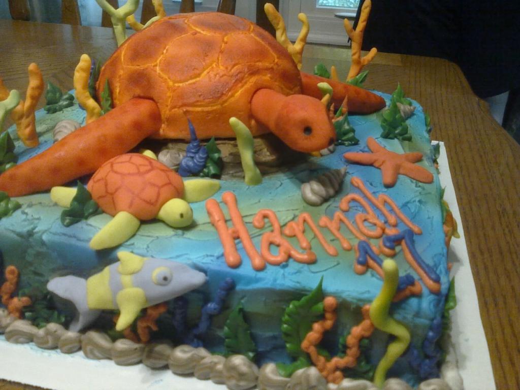 11 Sea Turtle Birthday Cakes Photo Sea Turtle Birthday Cake Sea